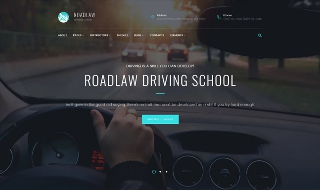 Driving School Web Templates Service