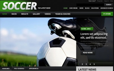 football web templates