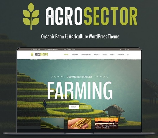 agriculture web templates